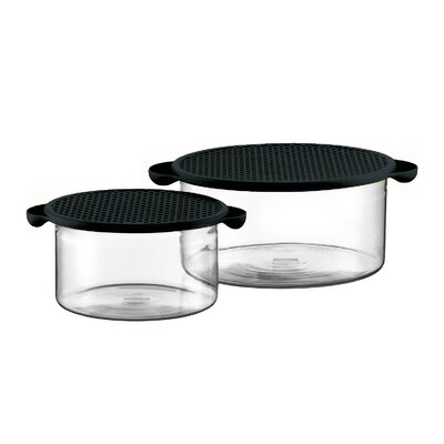 Hot Pot Set Borosilicate Glass Baking Dish in Black