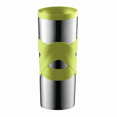 Bistro Double-Walled Stainless-Steel Travel Mug with Radial Sip-Anywhere Lid