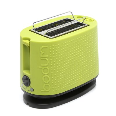 Bodum Bistro Two Slice Green Toaster with Cool Touch Exterior
