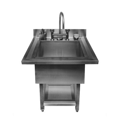 "Julien UrbanEdge Pedestal Single Bowl 34"" x 33"" Utility Sink"