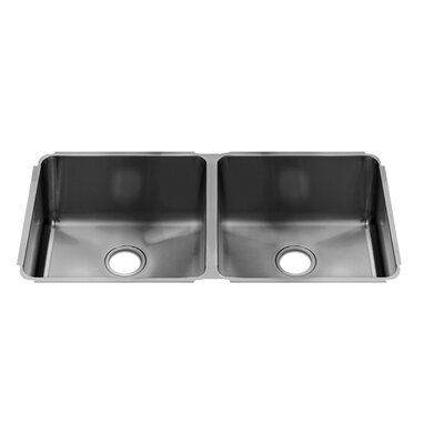 "Julien Classic 38"" x 19.5"" Undermount Double Bowl Kitchen Sink"