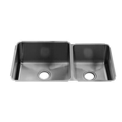 "Julien Classic 11"" x 17.25"" Undermount 16 Gauge Stainless Steel Double Bowl Kitchen Sink"