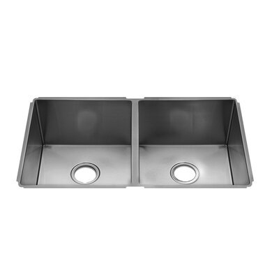 "Julien J7 32"" x 19.5"" Undermount Double Bowl Kitchen Sink"