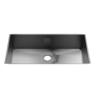"Julien UrbanEdge 37"" x 19.5"" Stainless Steel Single Bowl Kitchen Sink"