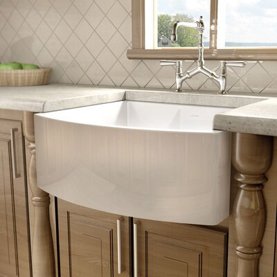 "Julien F110 23.5"" x 21"" Farmhouse Single Bowl Kitchen Sink"