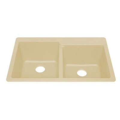 Q100 Topmount Quartz Double Bowl Kitchen Sink