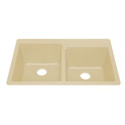 Q100 Topmount Quartz Double Bowl Kitchen Sink