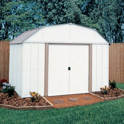Lexington 10' W x 8' D Steel Storage Shed