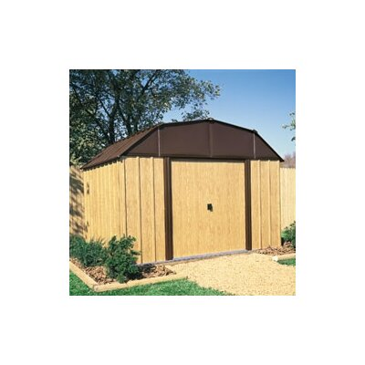 Arrow Woodview Steel Storage Shed