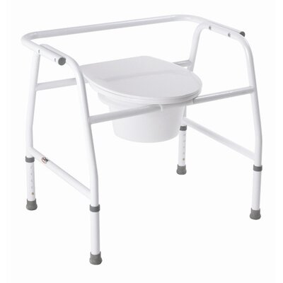 Extra Wide Steel Commode