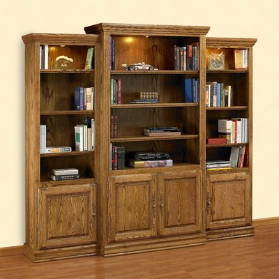 "A&E Wood Designs Britania Heirloom 85"" Bookcase"