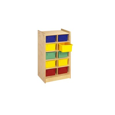 A&E Wood Designs Mobile 10 Compartment Cubby