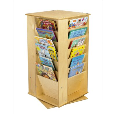 A&E Wood Designs Cubbie Media Book Tower in Natural