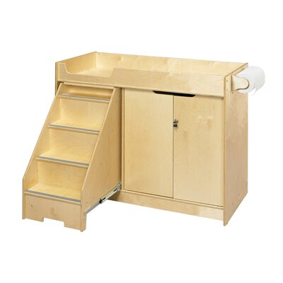 A&E Wood Designs Cubbie Changing Table with Stairs