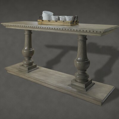 French Restoration Small Provence Dual Baluster Console Table