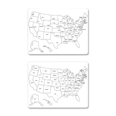 Chenille Kraft Company USA Map Whiteboard