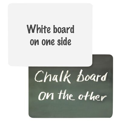 "White Board/Chalkboard Combo, 1/4""x9""x12"", White/Green"