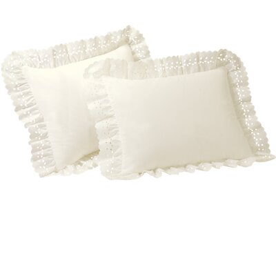 Fresh Ideas Eyelet Sham Set in Ivory (Set of 2)