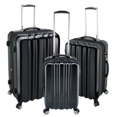 Heys USA zCase 3 Piece 4 Wheels Spinner Luggage Set