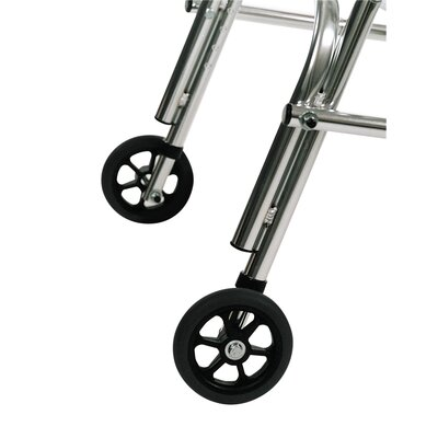 Kaye Products Rear Legs Silent Wheels for Adolescent's Walker with Built-In Seat