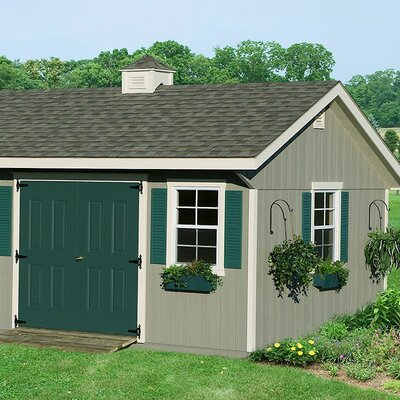 Homeplace Bungalow 12' W x 16' D Wood Garden Shed