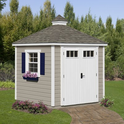 Homeplace 7' W x 7' D Colonial Wood Garden Shed