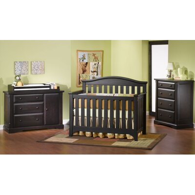 Child Craft Hawthorne Two Piece Lifetime Convertible Crib Set in Espresso Pine