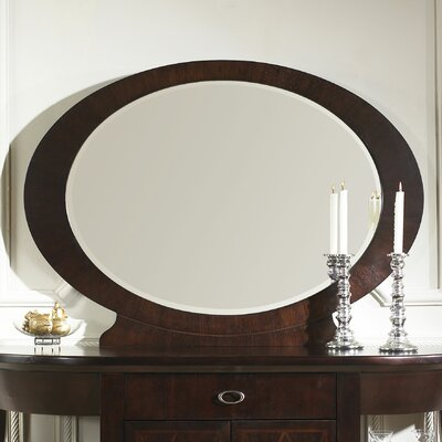 Somerton Dwelling Crossroads Mirror in Rich Cherry