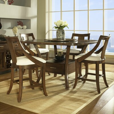 Gatsby 5 piece counter height dining set wayfair for Counter height dining set