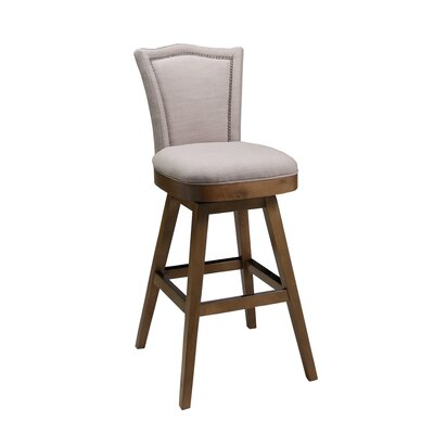 Colina Swivel Barstool in Putty Ivory