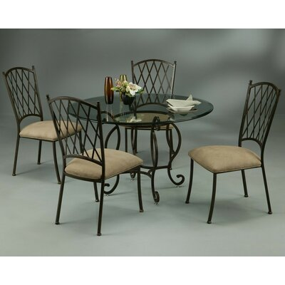 Pastel Furniture Atrium Elegant 5 Piece Dining Set