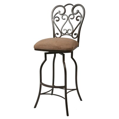 "Pastel Furniture Magnolia 30"" Swivel Bar Stool w/ Moccasin Brown Fabric"