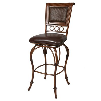 "Pastel Furniture Rio Branco Umber 26"" Counter Stool w/ Stallion Brown Vinyl"