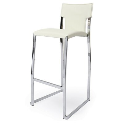 "Pastel Furniture Kelsey 30""  Vinyl Barstool in Ivory"