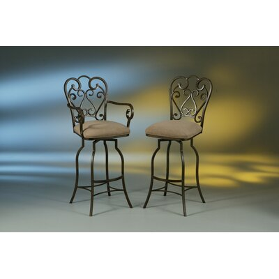 "Pastel Furniture Magnolia 26"" Swivel Bar Stool with Cushion"