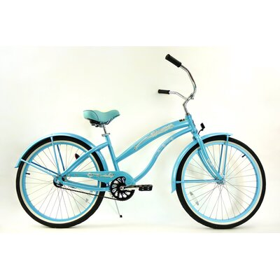 Greenline Bicycles Women's Single Speed Aluminum Beach Cruiser