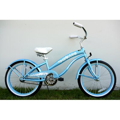 "Greenline Bicycles Girl's 20"" Single Speed Beach Cruiser Bike"