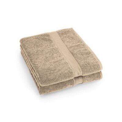 City Scene Supreme Egyptian Cotton Bath Sheet in Sand (Set of 2)