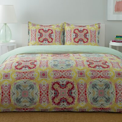City Scene Medallion Duvet Set