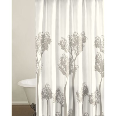 City Scene Tree Top Cotton Shower Curtain