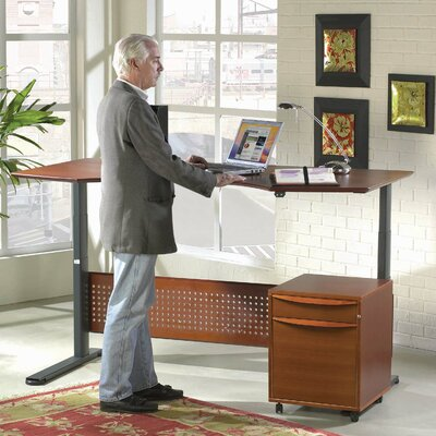 "Jesper Office Jesper Office Motorized Standing Desk in Wood 47"" Top"