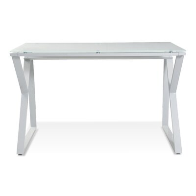 Jesper Office Tribeca Writing Desk with Glass Top