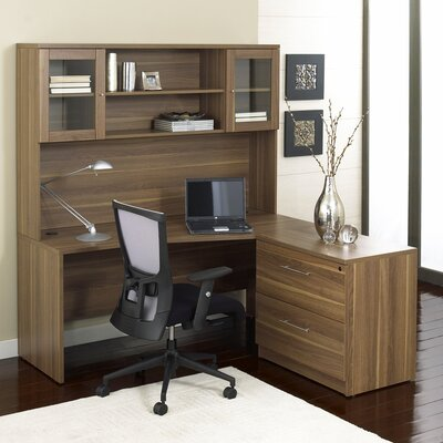 Innovative Shop Jesper Office Professional 100 Series Walnut Computer Desk At