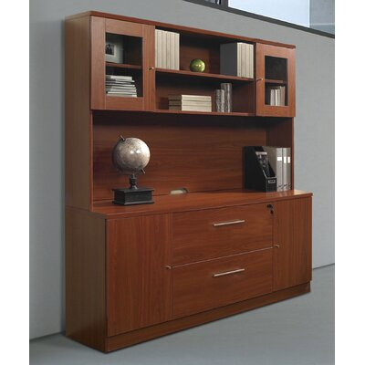 "Jesper Office 100 63"" Pro X Credenza and Hutch Set"