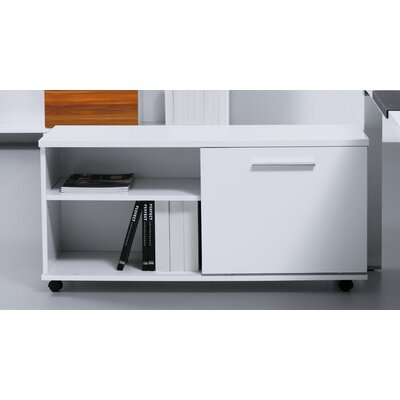 Jesper Office Jesper Office 500 Series Mobile File Cabinet with Sliding Door