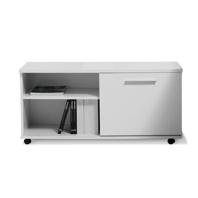 Jesper Office Storage Cabinet in White Lacquer
