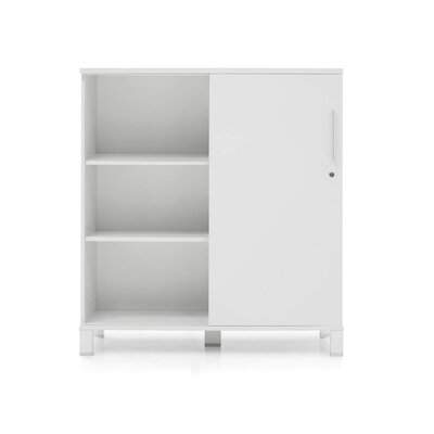Pure Office Cabinet in White Lacquer