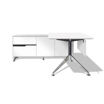 Jesper Office 400 Executive Desk with Return Cabinet