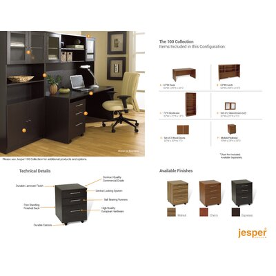 Jesper Office Pro X - Standard Manager's Desk Office Suite
