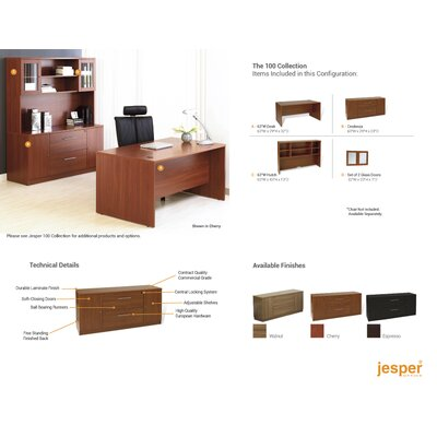 Jesper Office Pro X - Managerial Standard Desk Office Suite